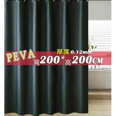PEVA 特厚全遮光黑色 寬200x高200公分 完全不透隔間簾門簾防止冷氣外洩