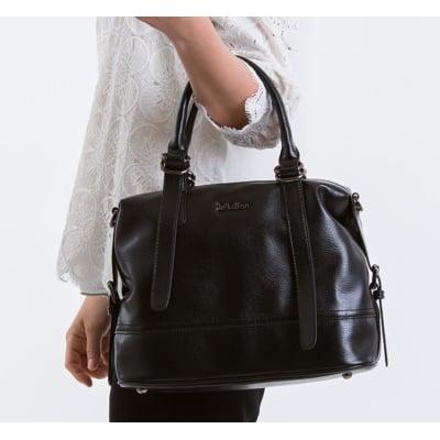 le Lufon 荔枝紋皮革 垂墜感皮帶金屬扣提把設計兩用手提包(M) 手提包/側背包/斜背包