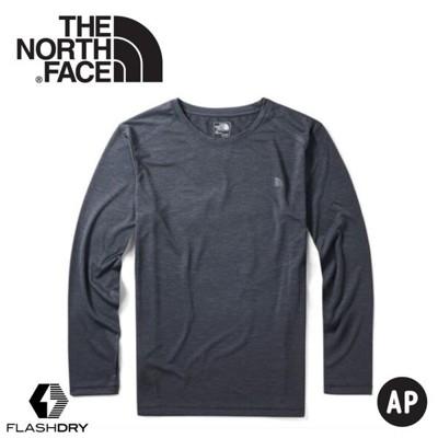 The North Face 男 FlashDry快乾防曬長T《黑》3VTB/圓領長袖/防曬長袖/長