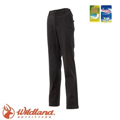Wildland 荒野 女 Softshell防風褲《黑》0A12315/登山褲/防風褲/雪褲