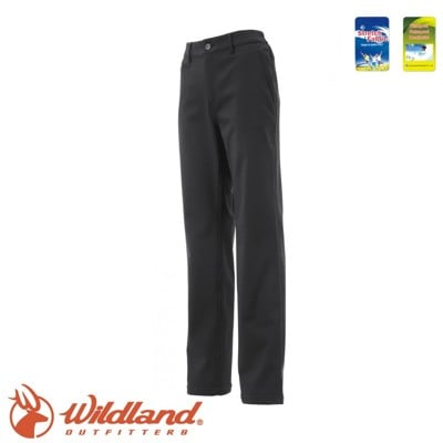 Wildland 荒野 女 厚SOFTSHELL防風褲《黑》0A12327/抗靜電/彈性/防潑水