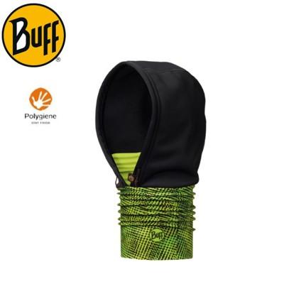 BUFF 西班牙 螢綠流線 WINDSTOPPER 防風連帽頭巾 《秋冬》口罩/快乾圍巾/自行車領巾