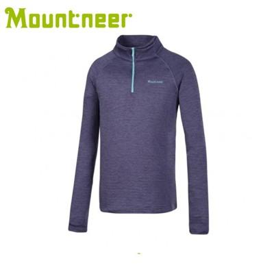 Mountneer 山林 男 雲彩針織保暖上衣《灰紫》22P15/高領/長袖/旅遊