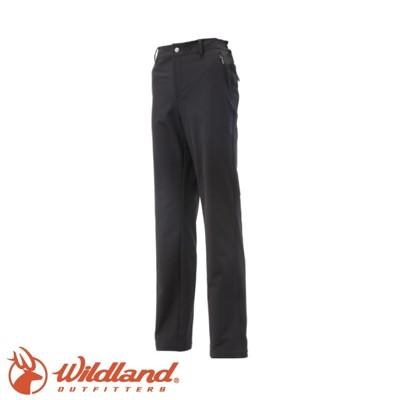 Wildland 荒野 女 彈性保暖長褲《黑》0A12303/工作褲/防風褲/登山