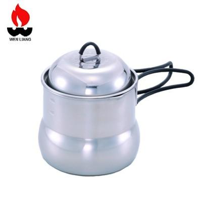 Wen Liang 文樑 攜帶型炊具 不鏽鋼/湯鍋/露營/登山/泡茶/咖啡/茶壺鍋/ST-2005