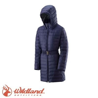 Wildland 荒野 女 輕四層700FP中長羽絨衣 深紫羽絨衣/22101