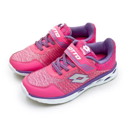 lotto 21cm-24.5cm微重力輕量跑鞋 桃紫 6353 大童
