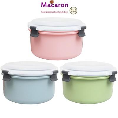【大卡龍】304不銹鋼圓形隔熱餐盒1000ml 台灣專利製造