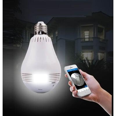 燈泡針孔監視器 全景監視 保全 遠程監控 Wifi 監控器 VR全景 VR360 隱藏攝影機 錄影燈