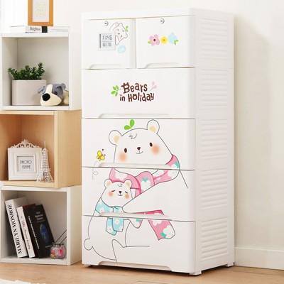 《+O家窩》薇樂溫濕感測收納櫃-親親小熊-DIY