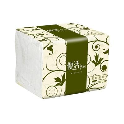現貨 -優活 抽取式衛生紙單抽式柔拭紙巾(300抽x30包/箱)