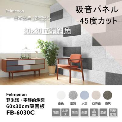 日本Felmenon菲米諾-DIY立體切邊吸音板_ 60x30cm(10片裝)