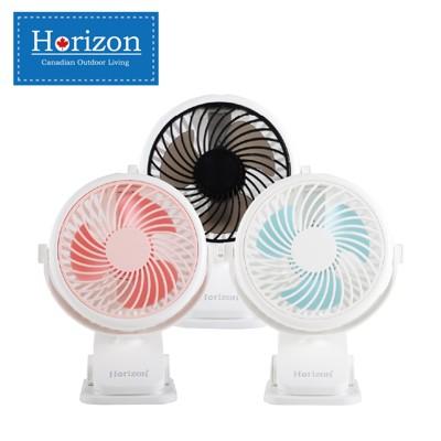【Horizon 天際線】夾式隨行小風扇/娃娃車/桌扇(USB充電小夾扇)