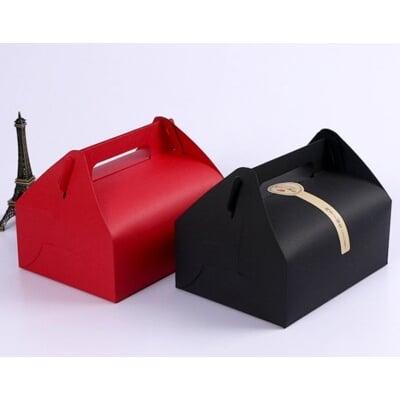 附底托 大號素面西點手提盒 禮盒 點心盒 杯子蛋糕盒 餅乾盒 婚禮小物 外帶盒 包裝盒 紙盒C099