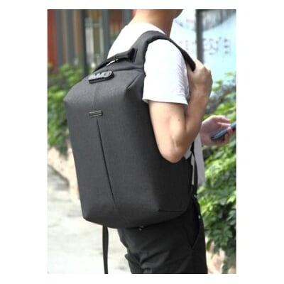 [Anti-Theft Backpack] 時尚運動防盜背包  (升級版)- 黑色