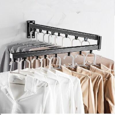 360°壁掛式旋轉折疊伸縮鋁合金曬衣架