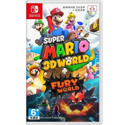 【Nintendo 任天堂遊戲片】超級瑪利歐3D世界+狂怒世界[全新現貨]