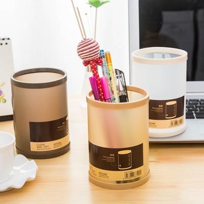 簡約diy創意筆筒 文具收納盒 桌面收納盒 辦公室置物桶 辦公文具筆筒 置物盒