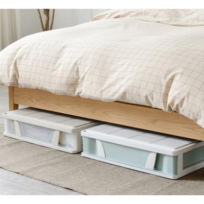 一件免運 床底收納箱衣服內衣被子透明儲物箱抽屜式扁平家用整理箱子大號