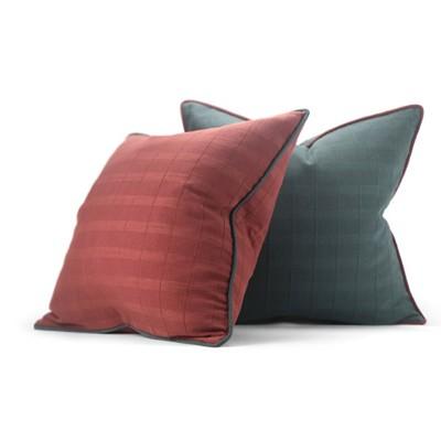 彩虹騎士優品砂洗棉暗紅綠禅意家居沙發樣板房民宿靠枕靠墊抱枕套