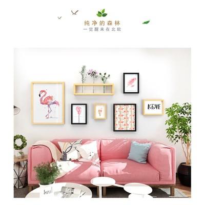現代簡約照片墻 餐廳玄關相框宜家相片墻水培花架創意掛墻裝飾