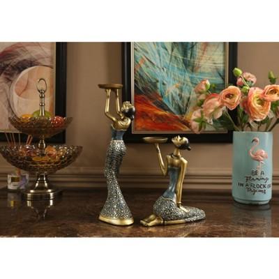 紫蘭軒*免運東南亞創意客廳燭臺擺件家居飾品室內玄關家具電視櫃工藝品擺設