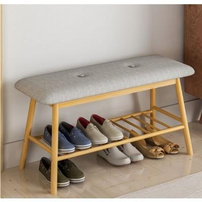 一件免運北歐 換鞋凳 鞋櫃 簡約現 代玄關 鞋登 進門 鞋架 門口可坐穿鞋凳家用凳子 - 84*30