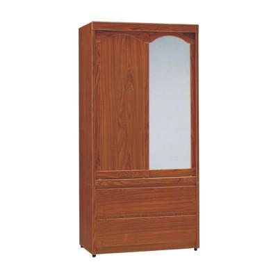 AS-柚木3x6尺二抽衣櫥-83.5x59.5x175cm