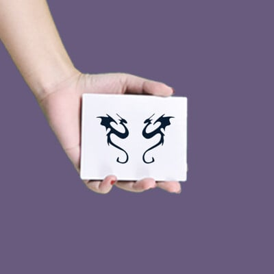 【A形】紋身貼膜:飛龍23
