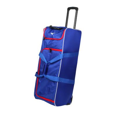 MIZUNO 拖輪袋-台灣製 行李袋 其它裝備袋 92.6L 美津濃 藍紅