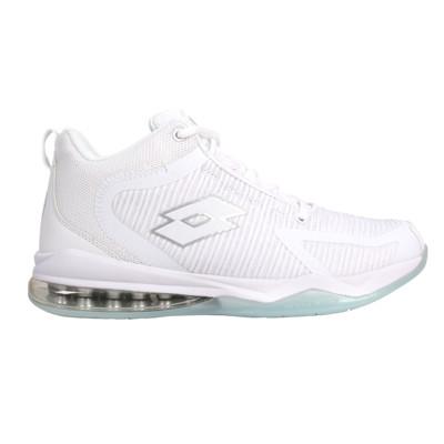 LOTTO 男氣墊籃球鞋-運動 慢跑 反光 白銀