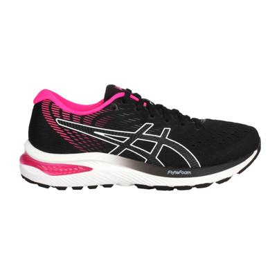 ASICS GEL-CUMULUS 22女慢跑鞋-WIDE-寬楦 亞瑟士 黑白桃紅