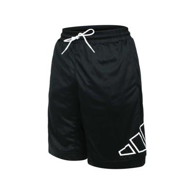 ADIDAS 男運動短褲-針織 吸濕排汗 五分褲 慢跑 路跑 愛迪達 黑白
