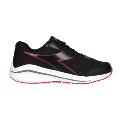 DIADORA 男專業輕量慢跑鞋-E寬楦-路跑 運動 黑紅