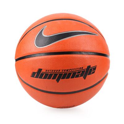 NIKE DOMINATE 6號籃球-戶外 橘黑