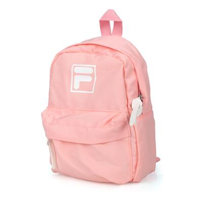 FILA 小型防潑水輕量背包-後背包 肩背包 雙肩包 兒童包 粉紅白