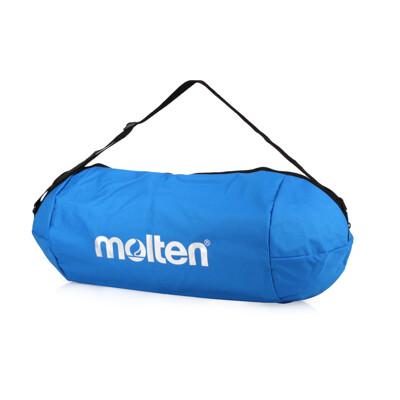 MOLTEN 籃球袋-3顆裝 裝備袋 肩背袋 側背袋 行李袋 藍銀