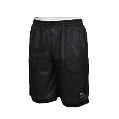 FIRESTAR 男雙面訓練籃球短褲-球褲 五分褲 運動 吸濕排汗 台灣製 黑白