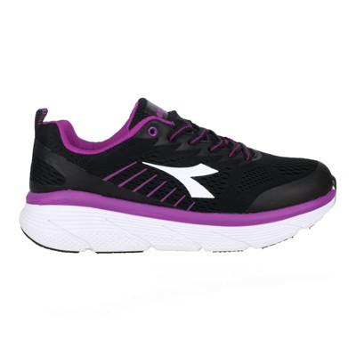 DIADORA 女專業避震慢跑鞋-路跑 運動 黑紫