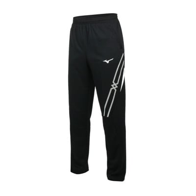 MIZUNO 男針織長褲-吸濕排汗 抗UV 運動 慢跑 路跑 美津濃 黑白
