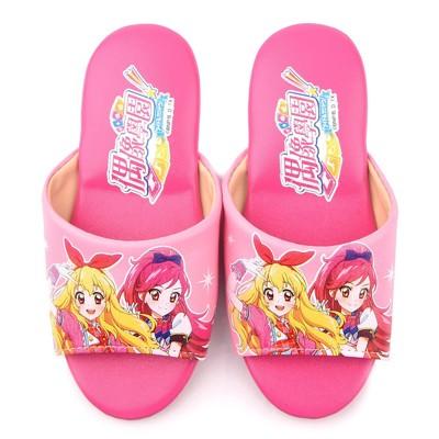 【鞋子部落】 偶像學園粉紅亮麗款室內拖鞋 中大童 ID0702 桃