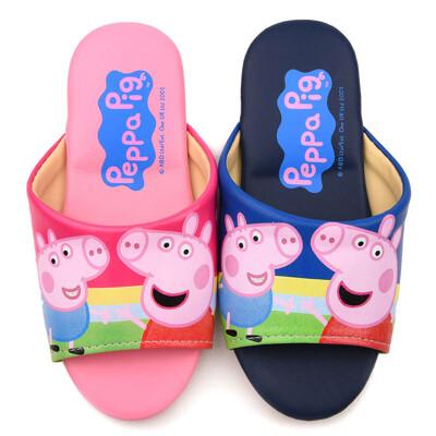 【鞋子部落】Peppa Pig 佩佩豬 兒童室內拖鞋 PG0050 桃/藍 (共二色)