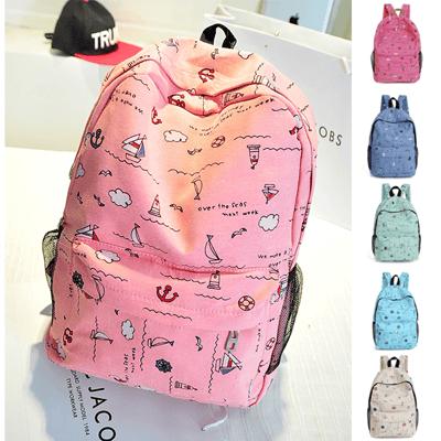韓版時尚簡約雙肩背包 旅行包 後背包 書包 女包 學生帆布包