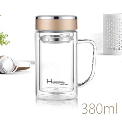 家魔仕  雙層玻璃辦公杯380ml HM-3568