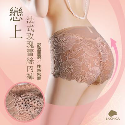 法式玫瑰蕾絲內褲【M/L/XL/加大2XL】