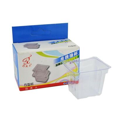 【台灣製造】拋棄式油杯-方型 (10入1盒)  免洗油杯/排油煙機專用