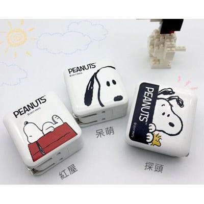 正版授權台灣製造 史努比SNOOPY 3.4A雙孔旋轉旅充/充電器 USB充電器
