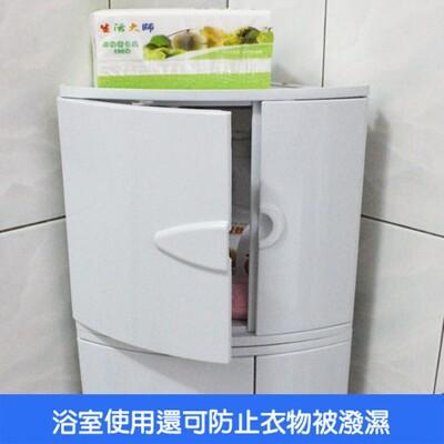 【角落置物箱】收納箱 浴室擺放 玩具箱 防塵檔水 免安裝 LH-101