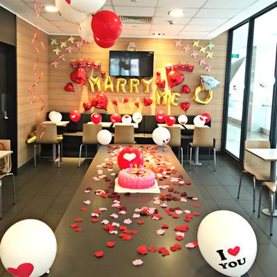 求婚浪漫氣球套餐(豪華版)