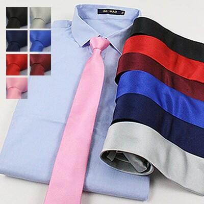 『SMR』-韓素斜紋拉鍊領帶-簡約款-7色任選《0030554-168》